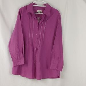 Norm Thompson button down top XL career wear
